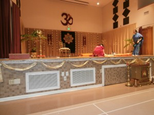 The stage is set for the Hindu wedding ceremony
